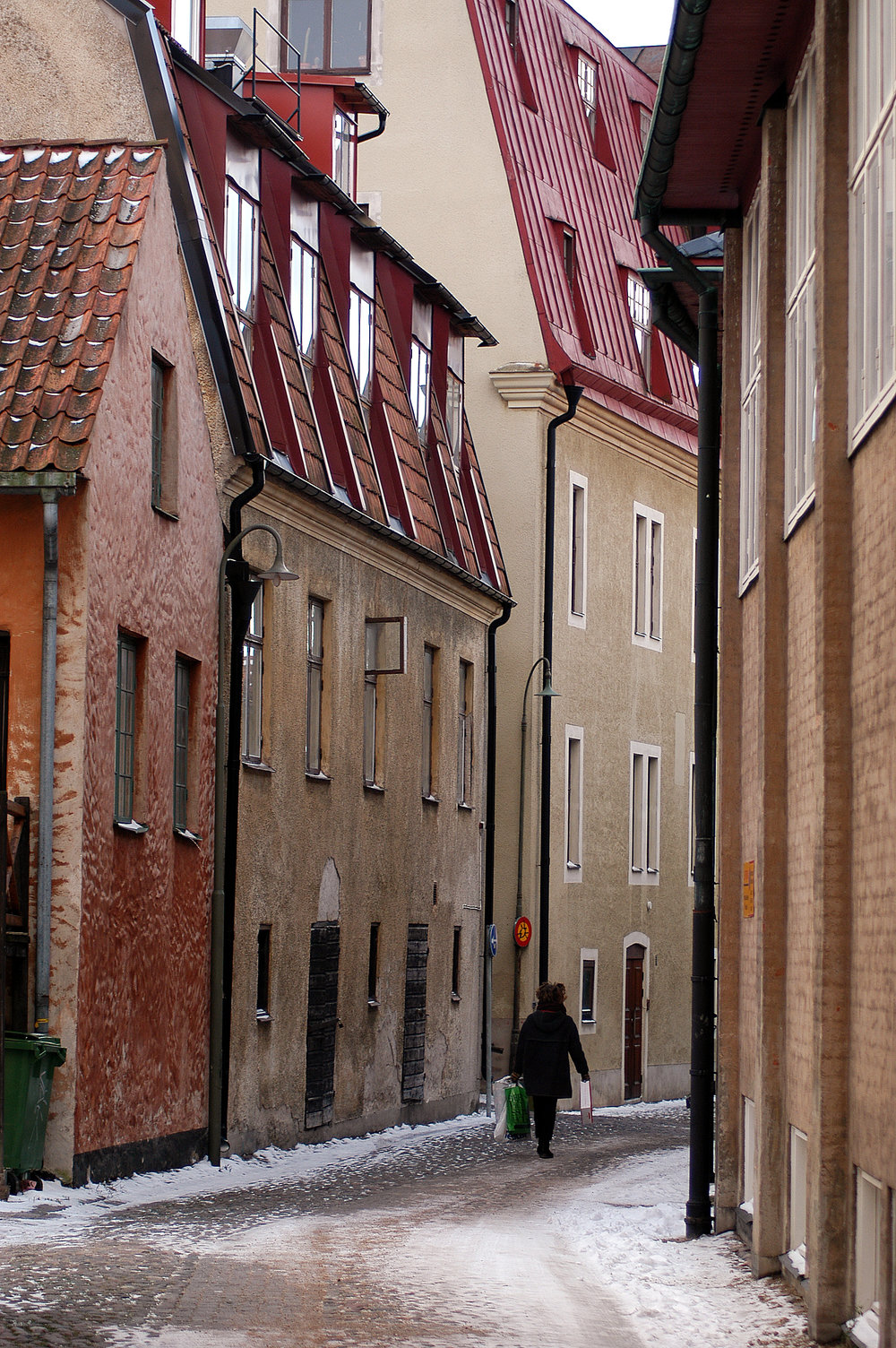Visby, Gotlanti. Perun puheeni. Visbyssä on jouluna ihanan rauhallista.