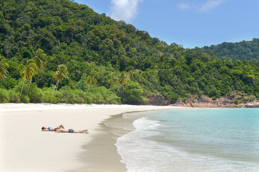 Malesia, Redang, hiekkaranta
