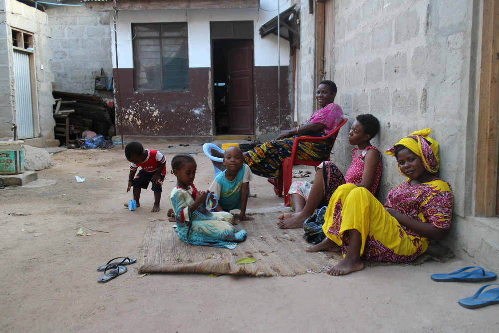Mama Habiba's family likes to spend time sitting outside with their neighbours. It seems like anybody can join, really.