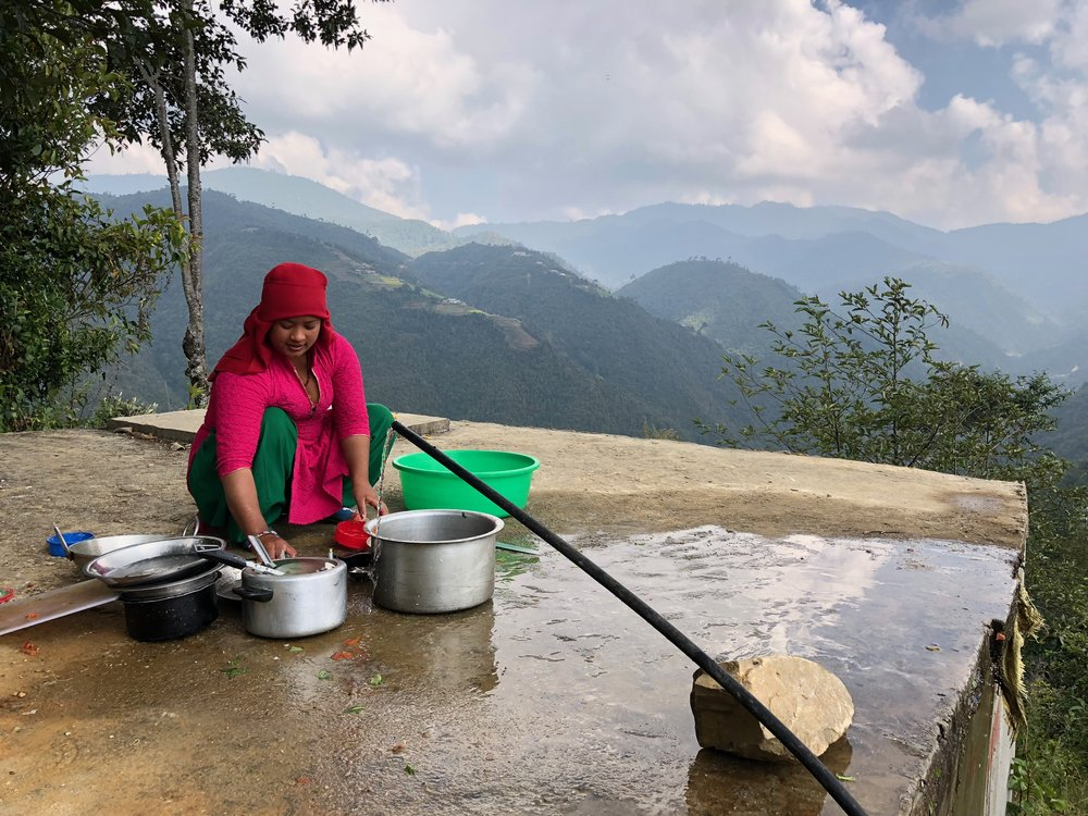 dishes manikhel kathmandu valley nepal trekking weather homestay.jpg