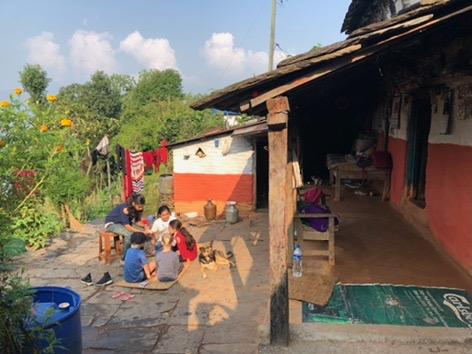 court yard in kaskikot nepal pokhara trekking annapurna sarangot.jpg