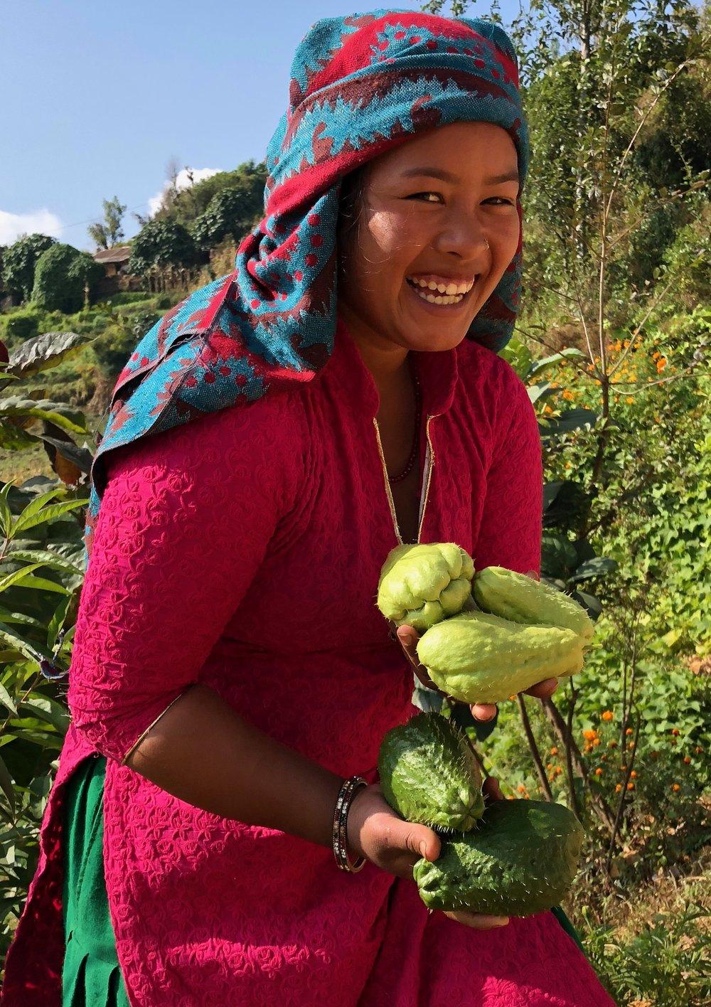 Ruoka suoraan puutarhasta Nepal.jpg