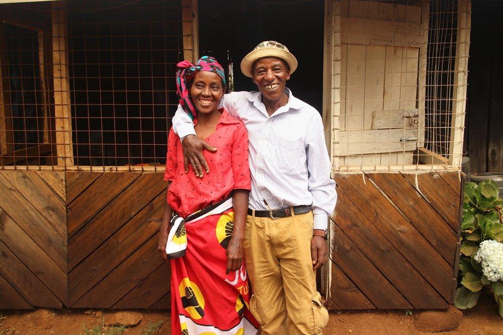 Duara's host family in  Gacharageini , Kenya