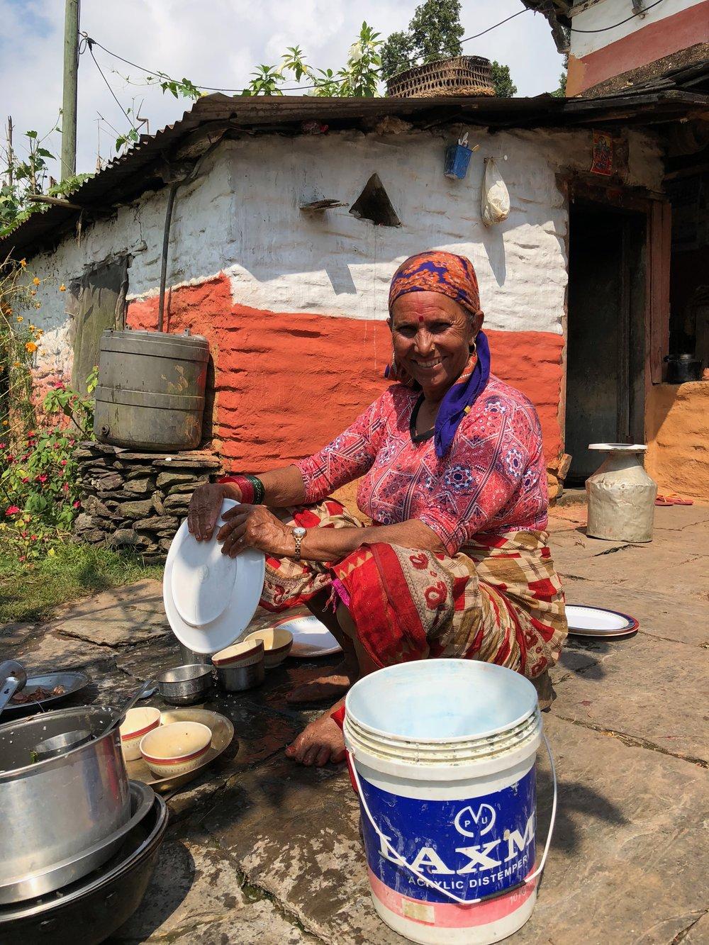 Duara hosts in  Kaskikot  village, near Pokhara, Nepal