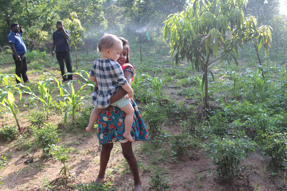 The daughter of Duara's host family in  Alagollewa , Sri Lanka with the daughter of Duara's co-founder.