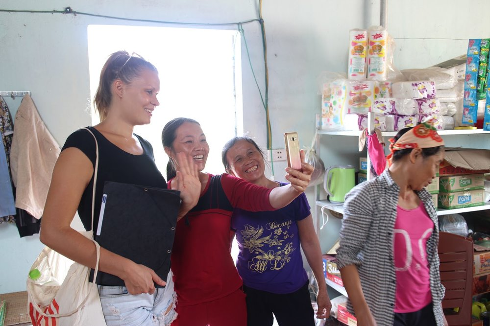 Hosts with Duara co-founder Elina in  Quynh Ngoc , Vietnam