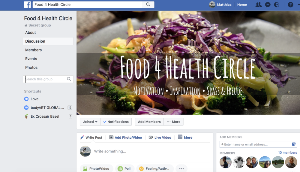 Food 4 Health Circle Facebook