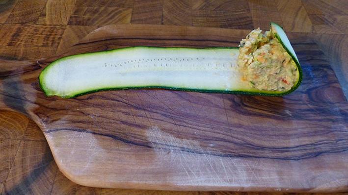 Zucchini-einrollen-start