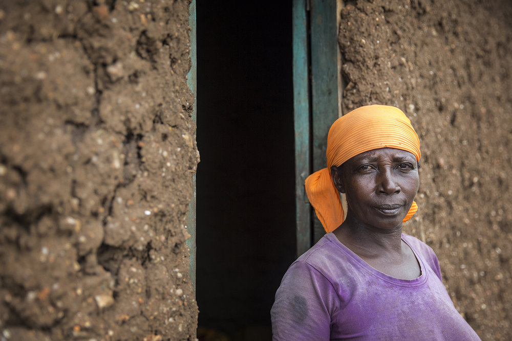 "Rosa Ngoyiera:  ""I have no income. My husband passed away and I have no money to send my children to school."""