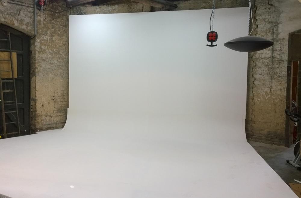 Unser neues Atelier: Hohlkehle 5m breit und 4m hoch