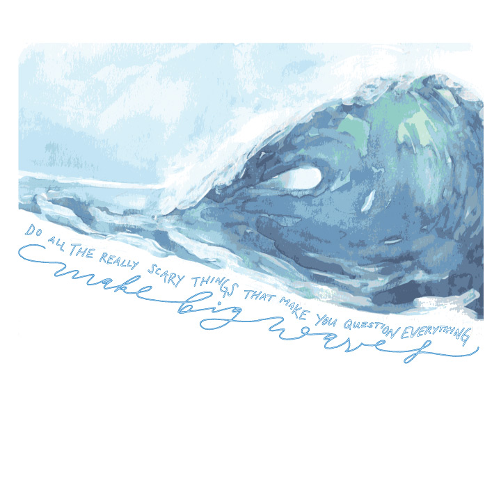 Make Big Waves Greeting Card