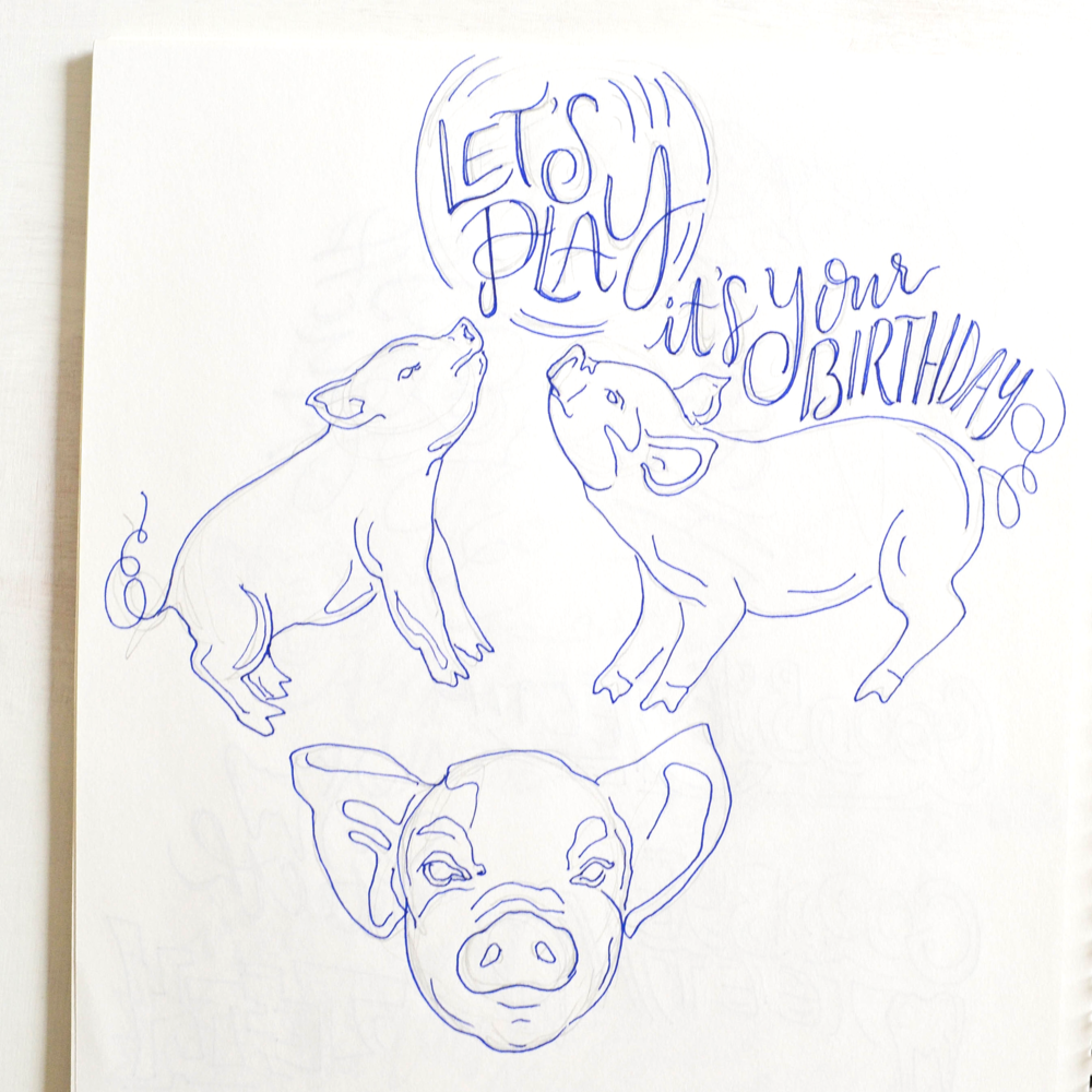 8 | Piggies!  Birthday card!