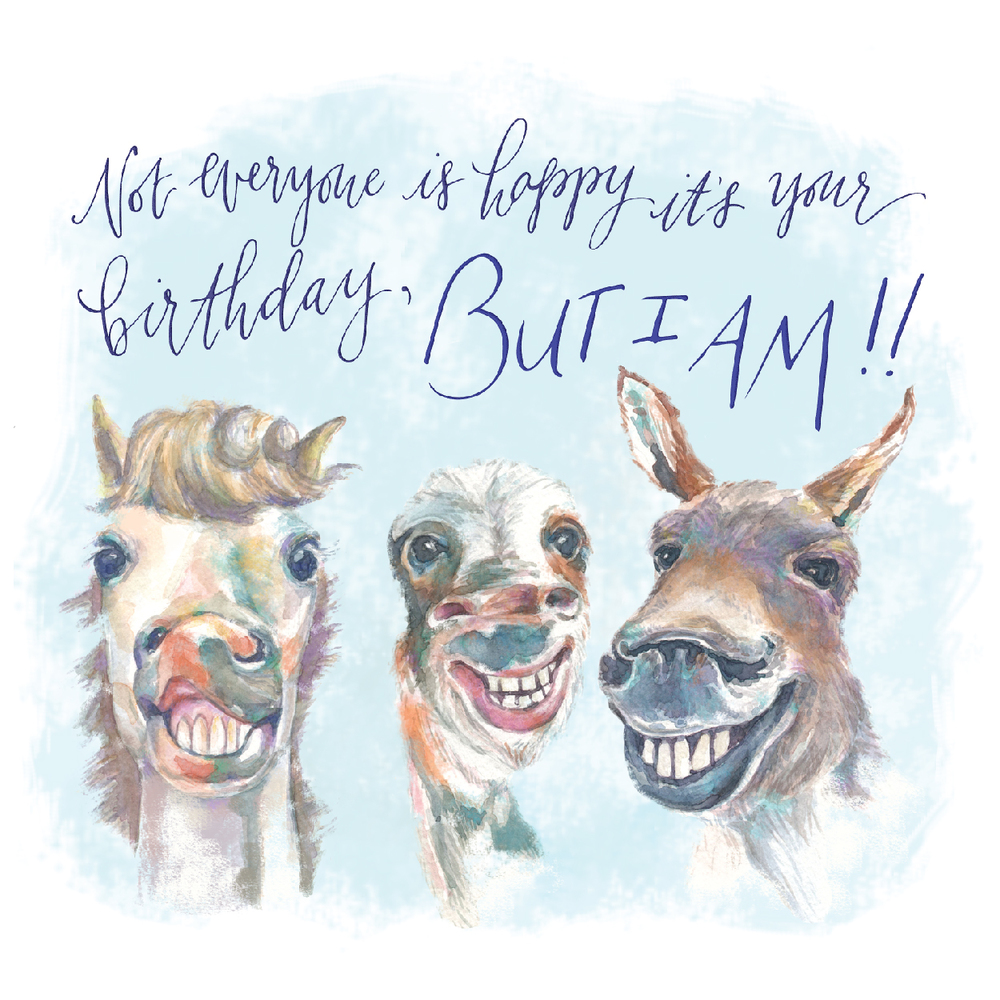 Birthday Horses Illustration