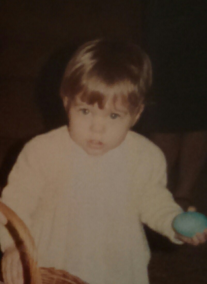 "From the archive. I developed my ""what's your problem?"" face at a young age."