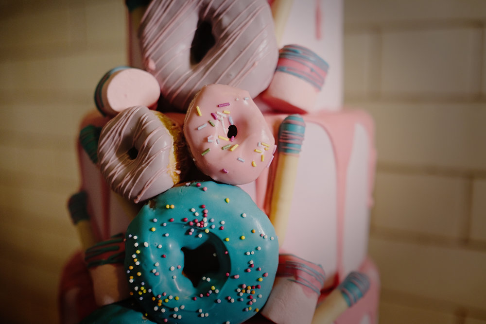 Doughnut drip cake The Confetti Cakery Samantha Hook Photography