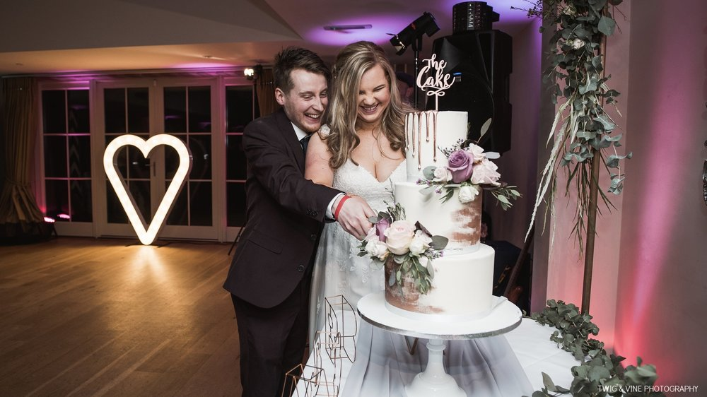 IMAGE: TWIG AND VINE CAKE: THE CONFETTI CAKERY VENUE: KELHAM HOUSE