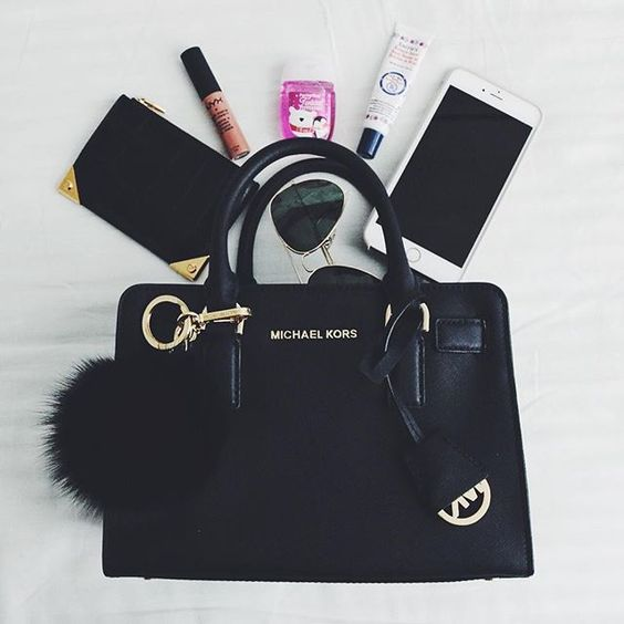Clear out the contents of your purse and lighten your load.   image source