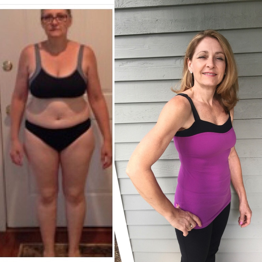 Caroline, a 54 year-old grandmother of 4 went from a size 12/14 to a size 0 in 6 months, and has kept it off for over a year, working out only twice per week for 45 minutes.