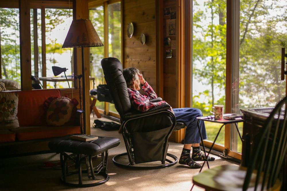 Grandma Dorcas at the Lake Cabin, Tonseth, MN