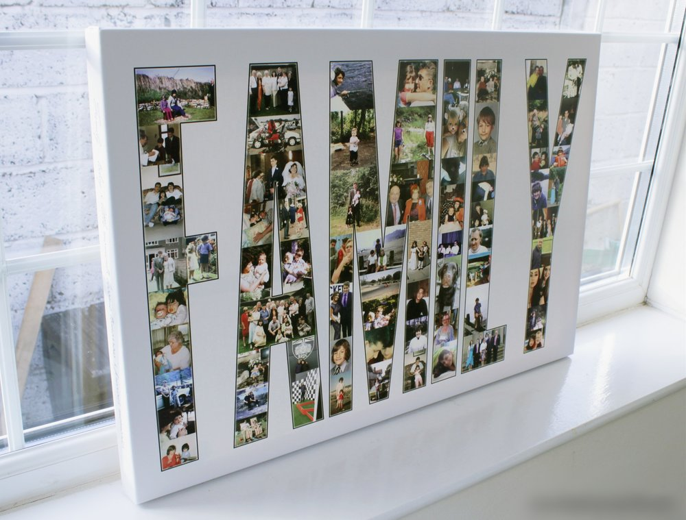 Text Family Collage Canvas - OhMyPics
