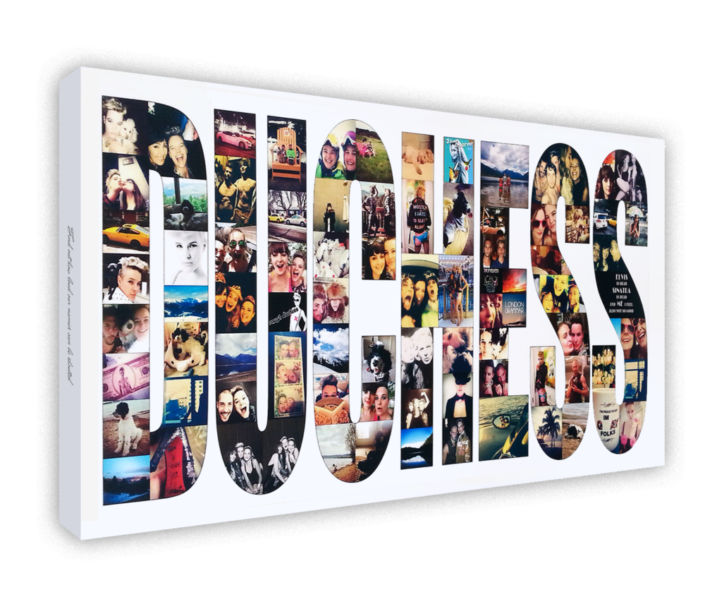 Text Collage - A custom designed collage of photos fitted into any word or name or number of your choice. An ideal gift...