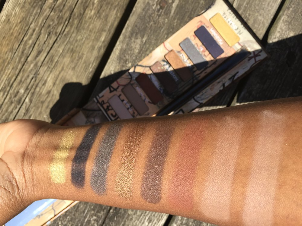 Urban Decay Basquiat Gold Griot Palette Swatches