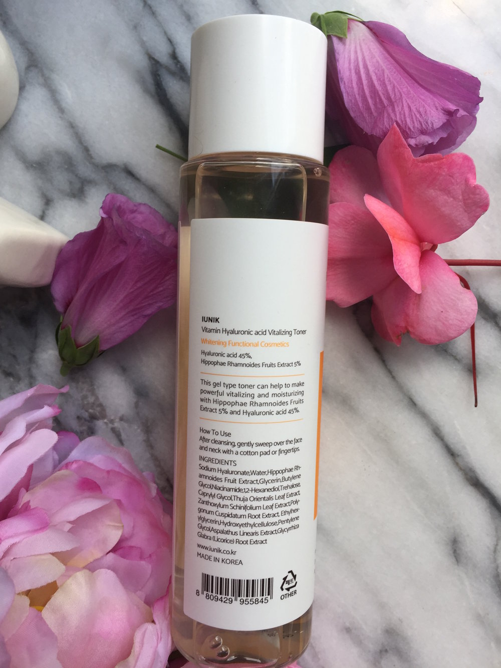 iUnik Vitamin Hyaluronic Acid Vitalizing Toner - Back