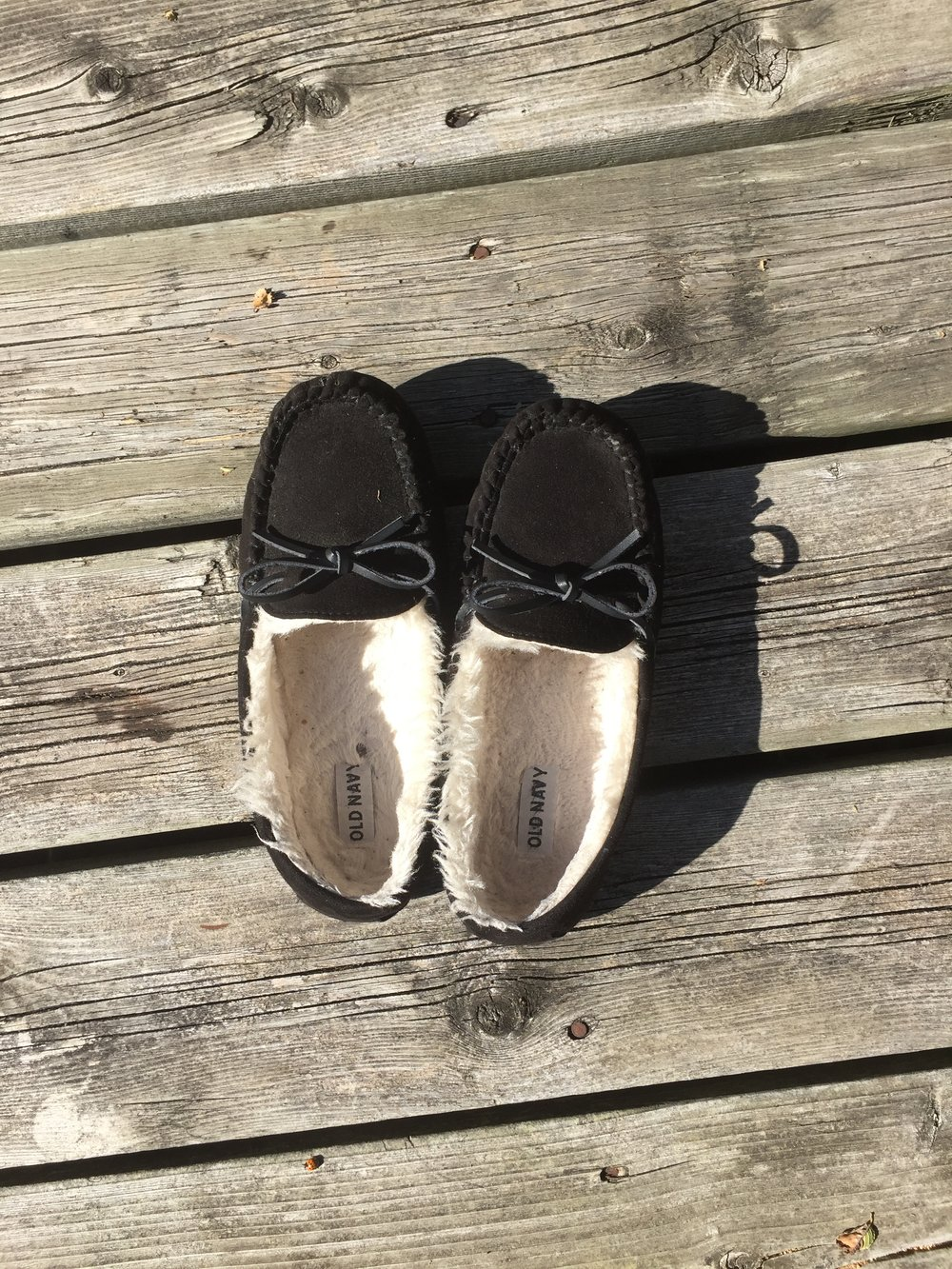 Sherpa lined shoes