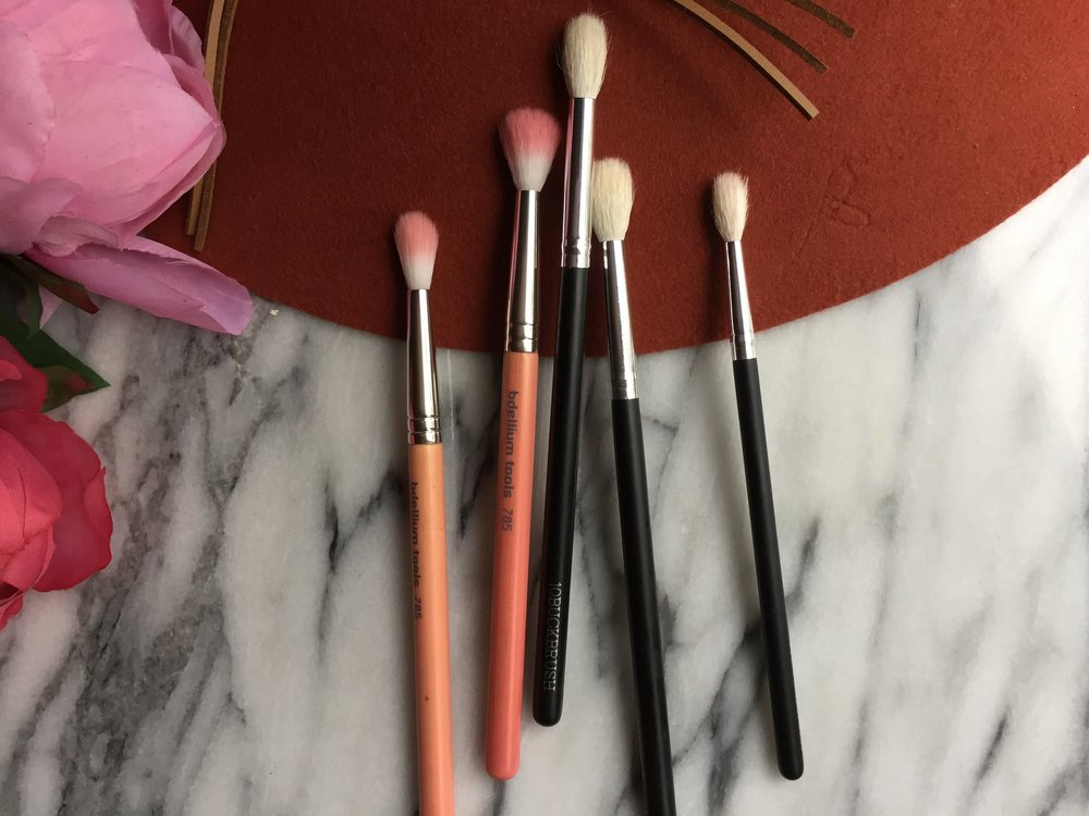 Bdellium tools and 10 Buck Brush Large and Small Blending Brushes