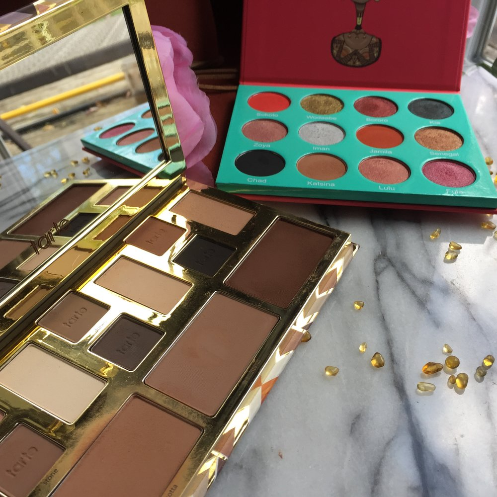 Tarte Clay Play Face Palette and Juvia's Place The Saharan Eyeshadow Palette