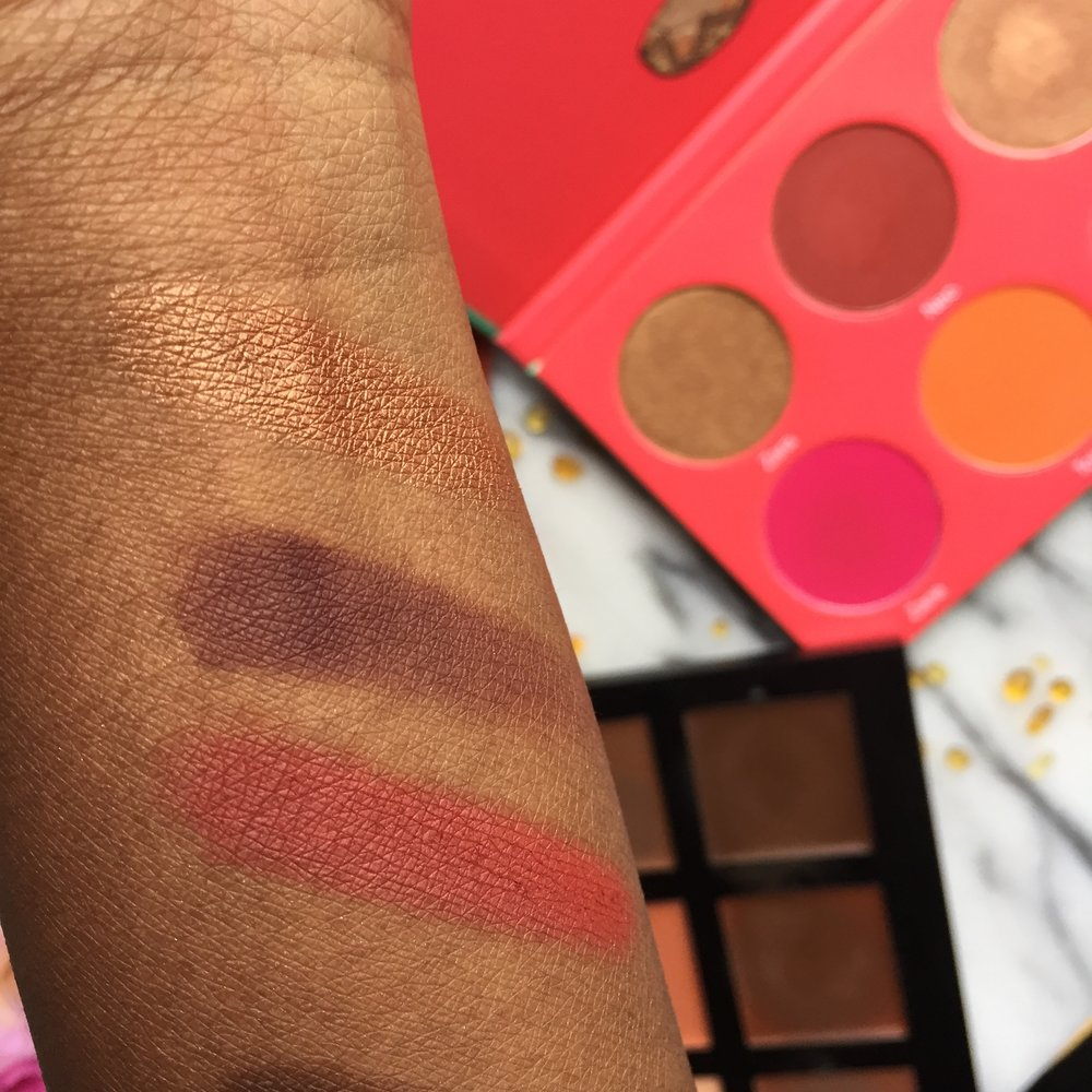Swatches of Juvia's Place The Saharan Blush Palette