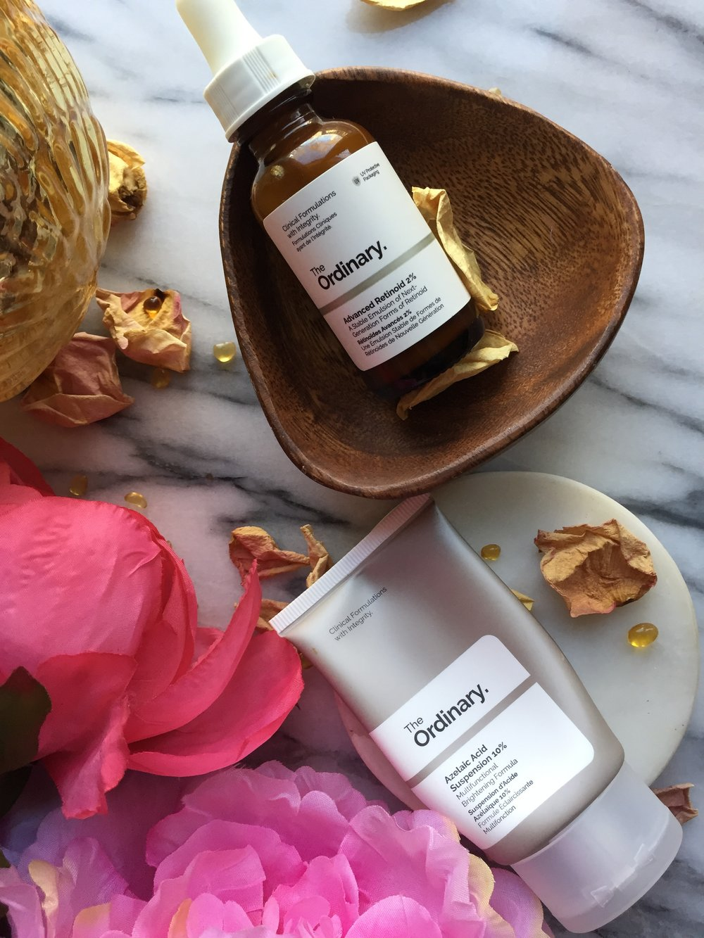 The Ordinary Azelaic Acid Suspension 10% and The Ordinary Granactive Retinoid 2% Emulsion