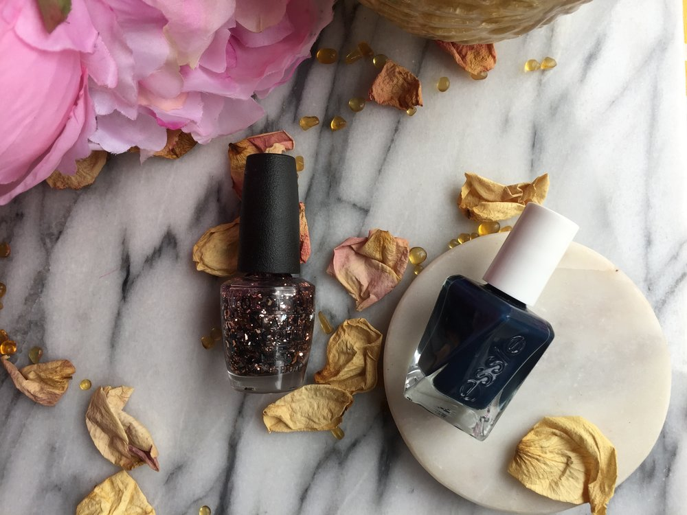 Essie Surrounded by Studs and OPI Two Wrongs Don't Make a Meteorite