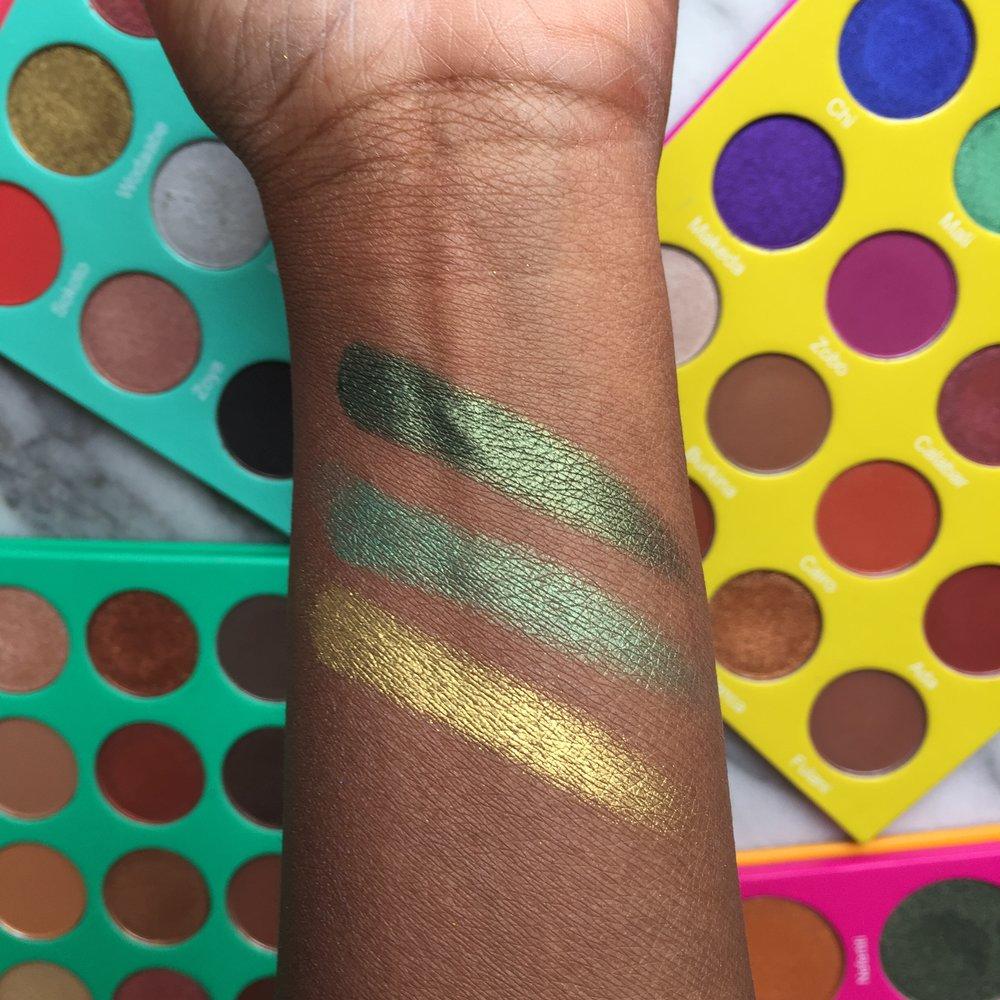Juvia's Place Palette Comparison | L to R: (S) Wodaabe, (M) Mali, (N2) Egypt