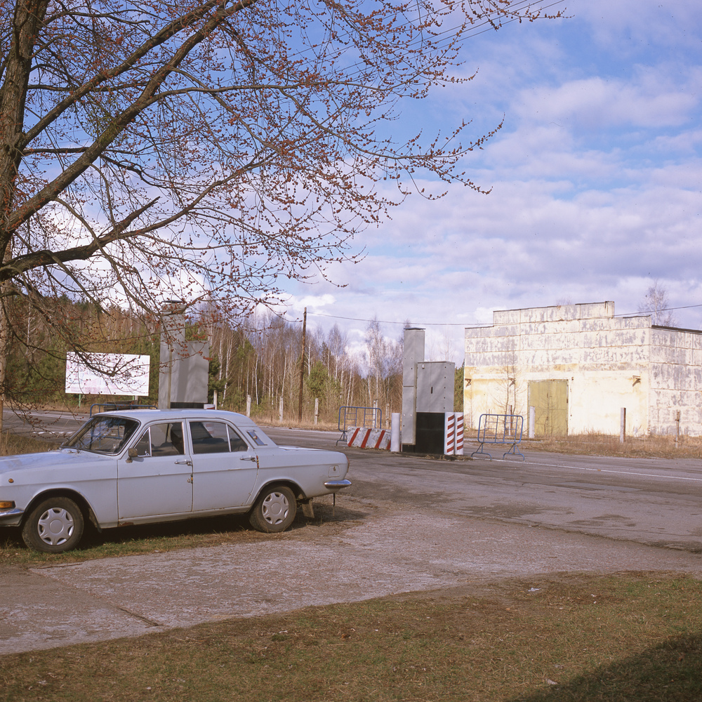 The entrance to the Exclusion Zone. Gf670 + Provia 100f