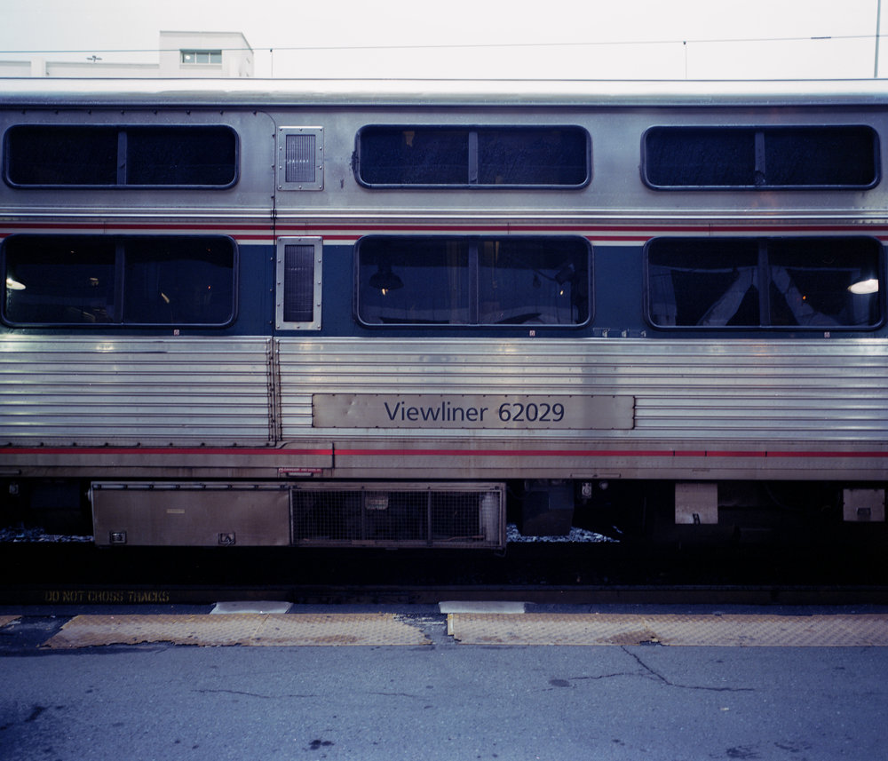 The Amtrak Viewliner in a single level with double windows