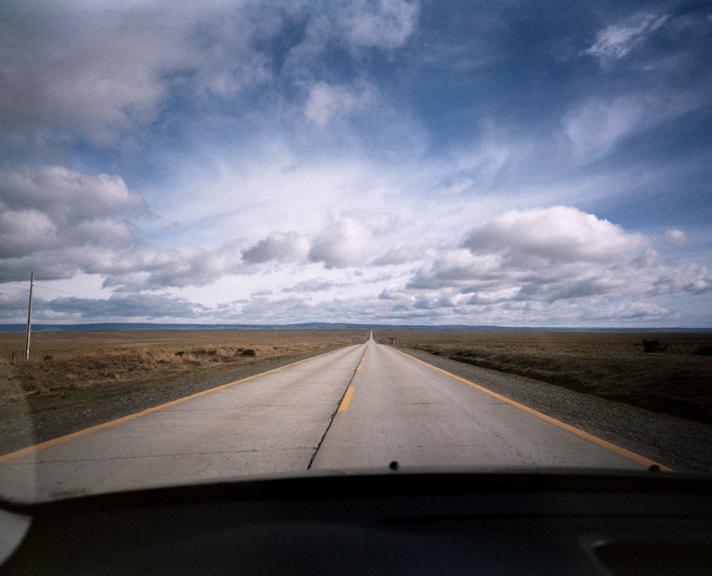 On the Road Fuji GF670w - Kodak Prn 100