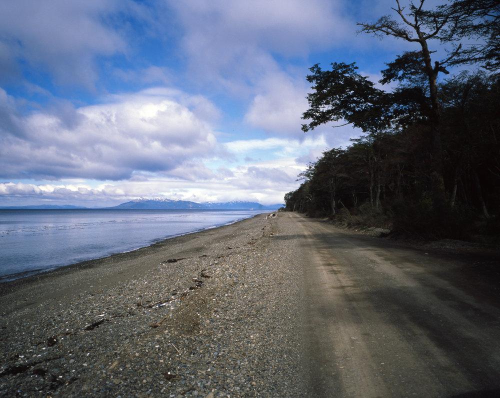 The road to Faro San Isidro along the beach Fuji GF670w - Kodak E100gx