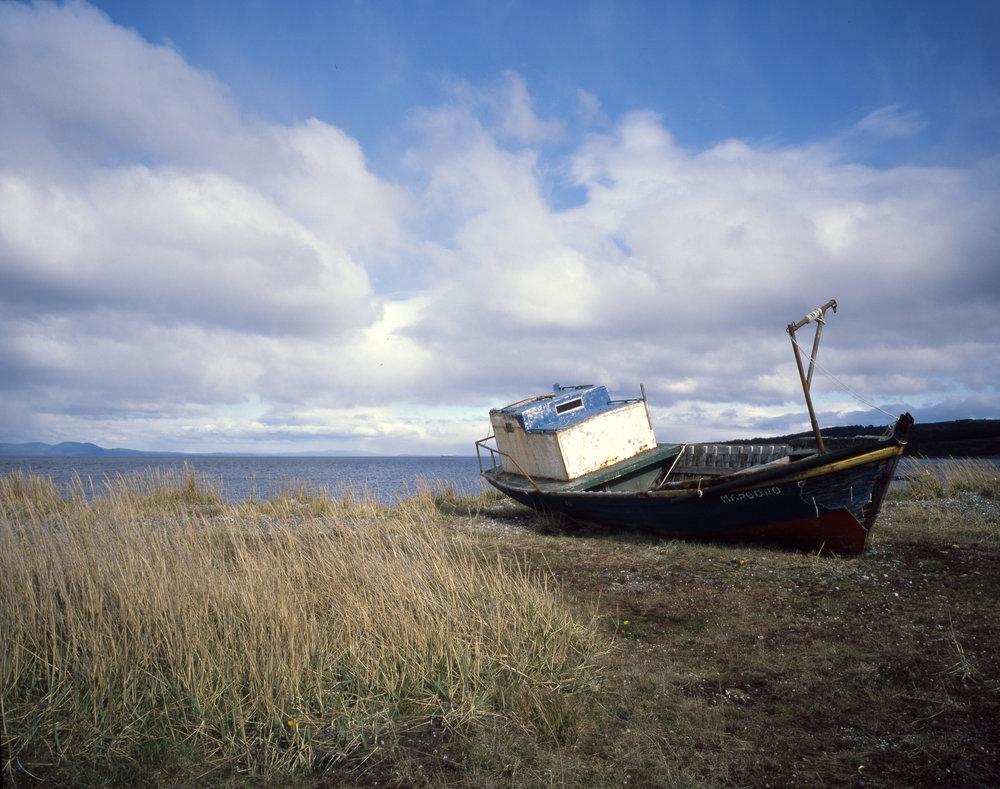 Southern Patagonia is littered with abandoned boats Fuji GF670w - Kodak E100gx