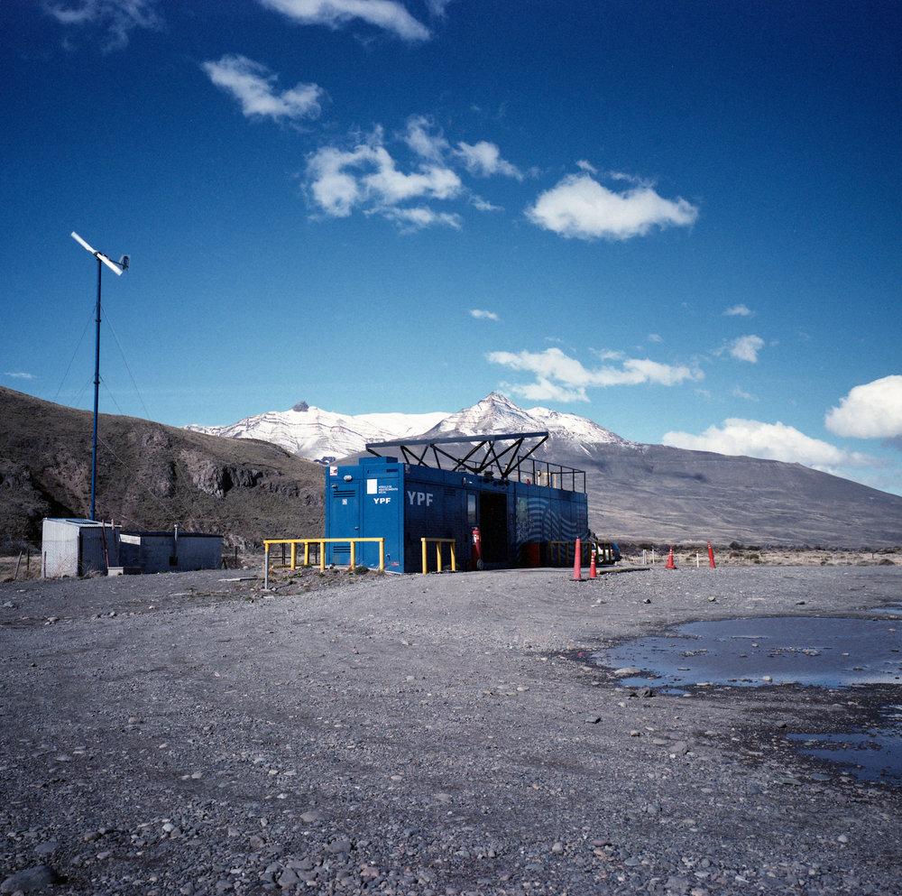 The Gas Station Fuji GF670w - Kodak Vericolor