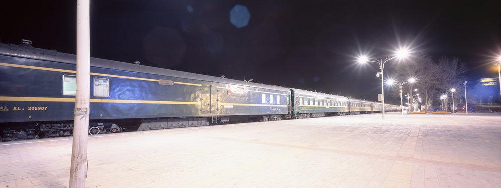 Our train in Erenhot, China P614 | Super Angulon 58mm | Fuji Provia 100f