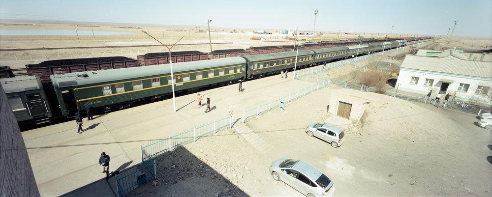 Our train in Choir P614 | 58mm Super Angulon | Fuji Provia 100f