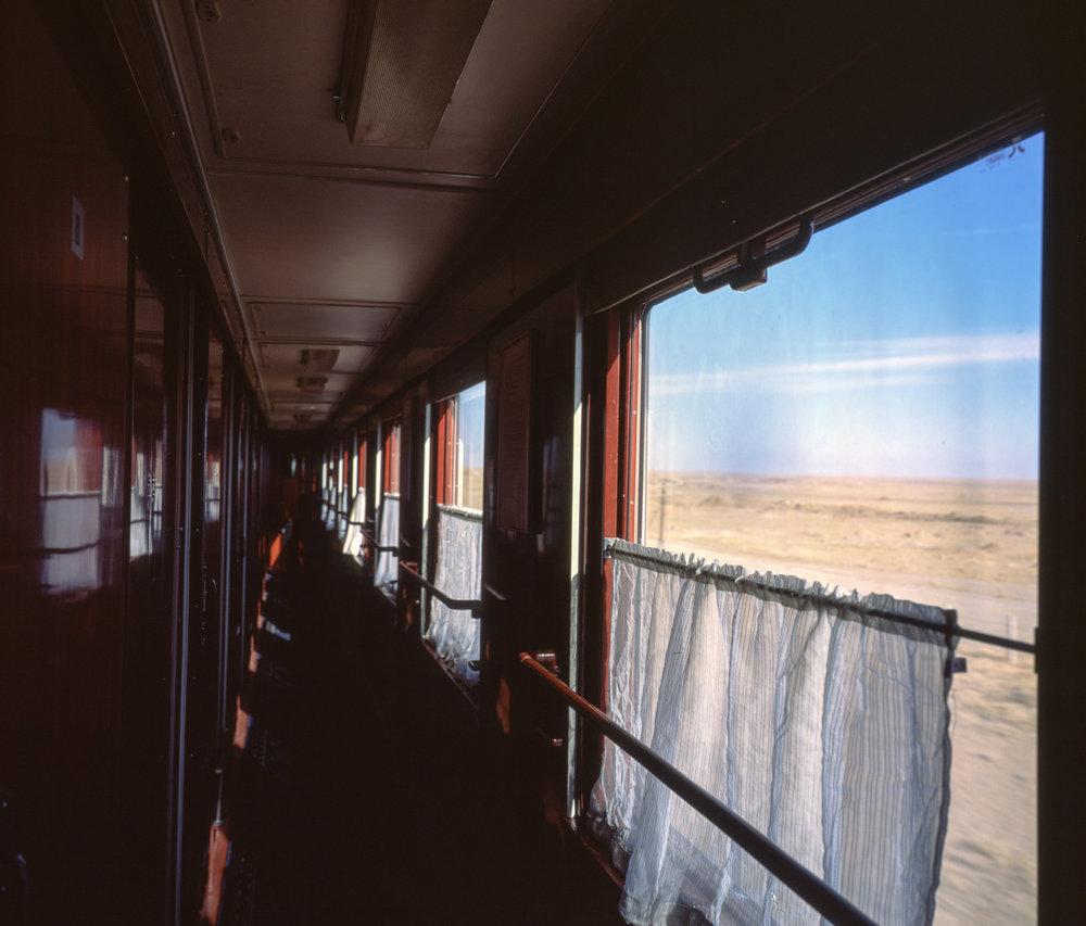 Riding the rails through the Gobi Desert Fuji Gf670w | Fuji Provia 100f