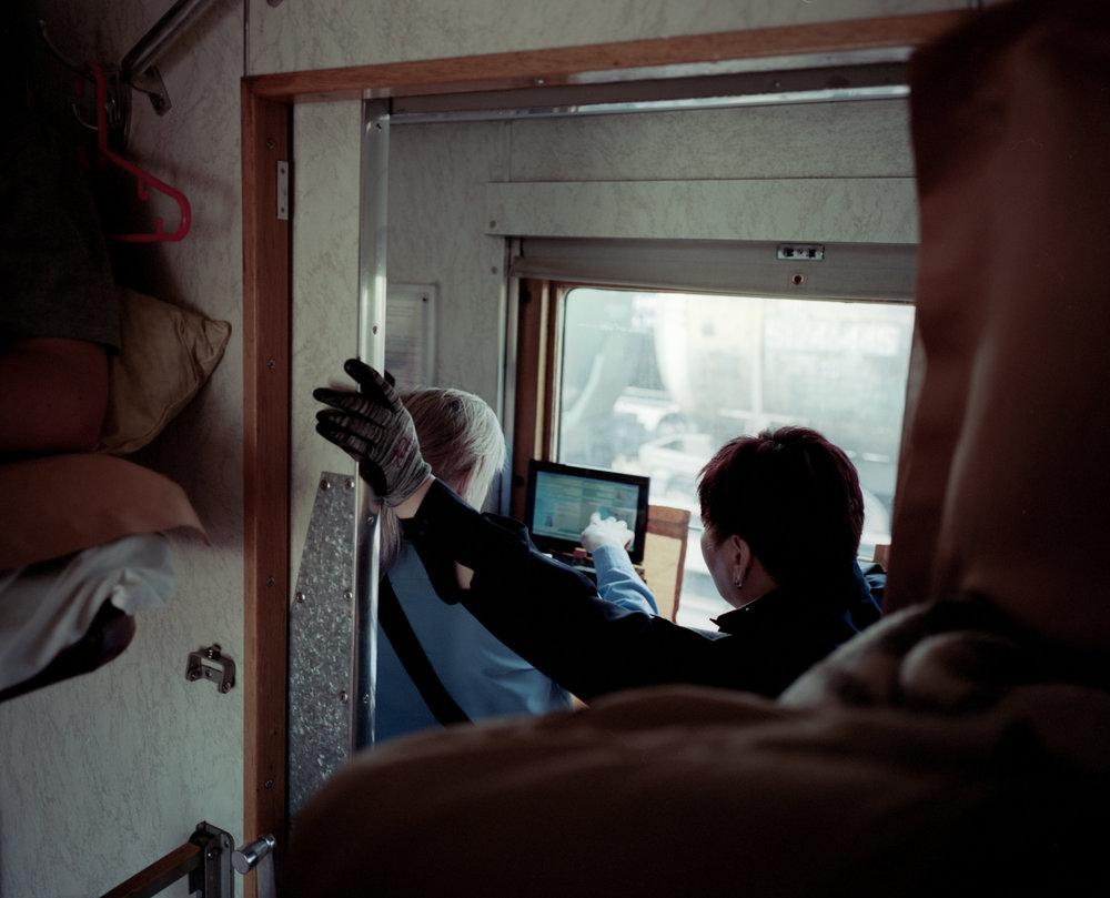 Russian border guards Fuji Gf670w | Kodak Portra 400