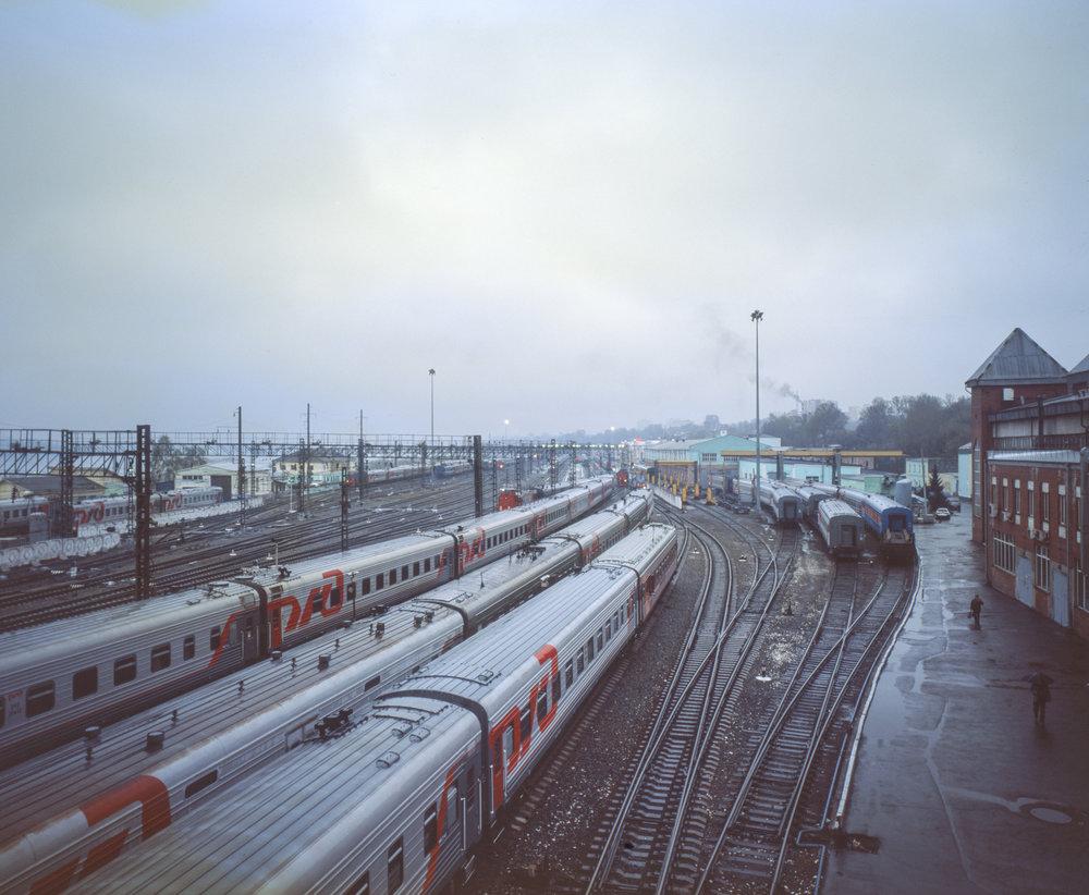 Irkutsk Train Station Fuji GF670w | Kodak E100gx