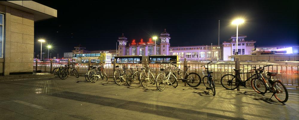 Beijing Railway Station Fuji GF670w | Fuji Provia 100f