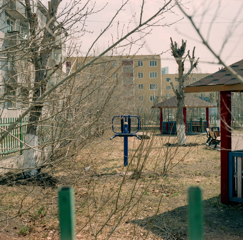Playgrounds in Ulanbator Fuji GF670 | Agfa Vista 400
