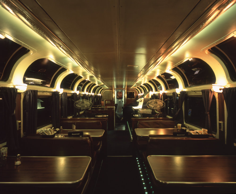 Observation Car at night Fuji GF670w | Fuji Provia 100f