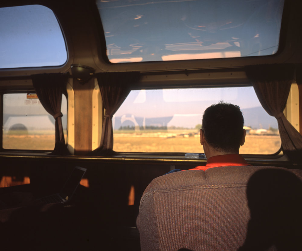 Salinas from the Parlor Car Fuji GF670w | Fuji Velvia 50