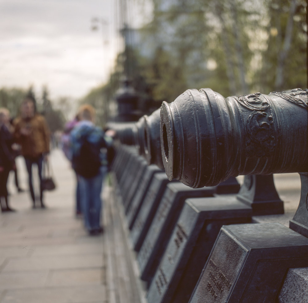 Cannon at the Kremlin Fuji GF670 | Fuji Provia 100f